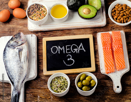 Valokuva  Food rich in omega 3