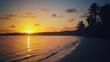 Beautiful sea sunrise on Punta Cana beach, Dominican Republic