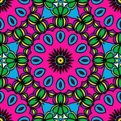 holiday floral seamless mandala pattern. vector illustration