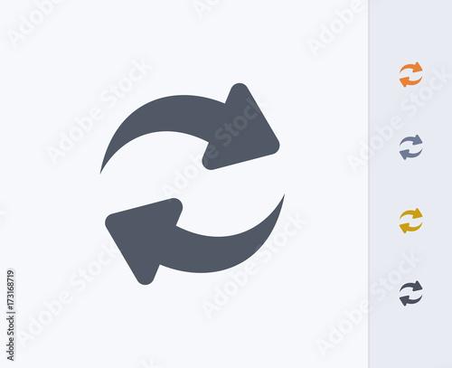 Fototapeta Sync Arrows - Carbon Icons. A professional, pixel-perfect icon designed on a 32 x 32 pixel grid and redesigned on a 16 x 16 pixel grid for very small sizes. obraz