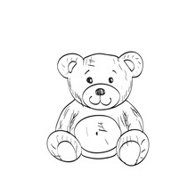 Teddy Bear Sketch. Drawing On ...