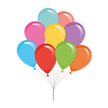 Colorful Balloons Isolated On ...