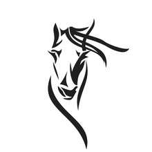 Vector Silhouette Of A Horse's...