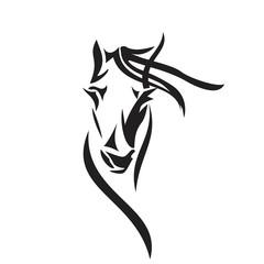 FototapetaVector silhouette of a horse's head