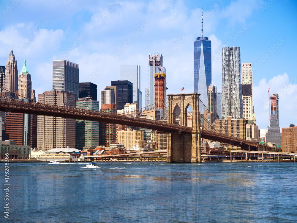 Fototapeta New York city Lower Manhattan skyline