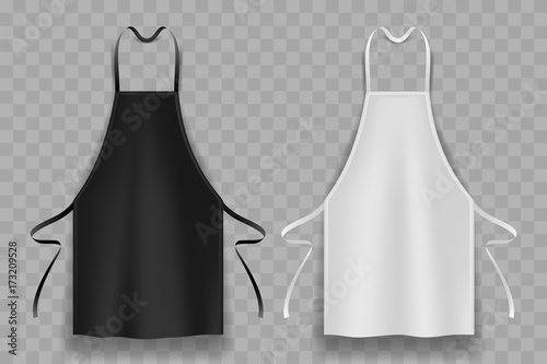 black and white apron Fototapet