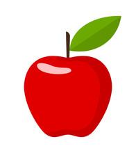 Red Apple. Flat Design Vector ...