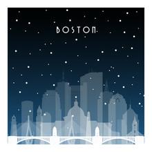 Winter Night In Boston. Night ...