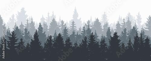 tło wektor las