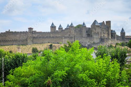 Plakat Zwiedzanie Carcassonne we Francji