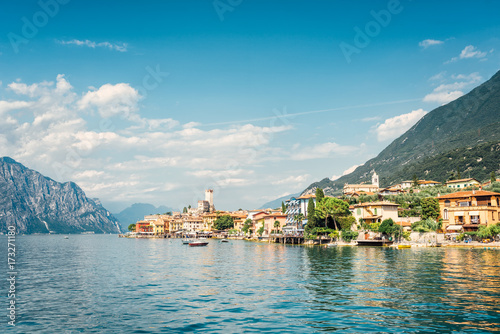 Photo sur Aluminium Piscine Malcesine, Lake Garda Italy