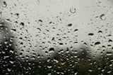 Fototapeta Fototapety do łazienki - Krople deszczu na szybie