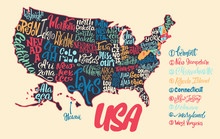 Silhouette Of The Map Of USA W...