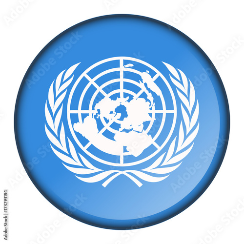 Fotografie, Obraz  Isolated flag button
