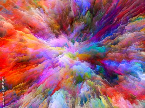 Zdjęcie XXL Pocałunek surrealistycznej farby