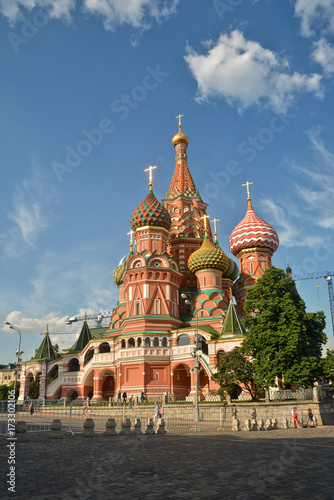 In de dag Moskou St. Basil's Cathedral, Moscow.