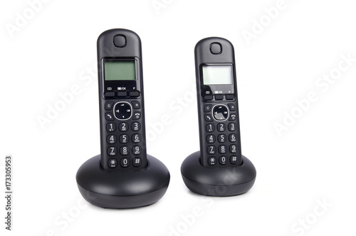 Modern Cordless Dect Phone With Charging Station And Display On