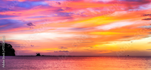 Tropical Costa Rican sunset