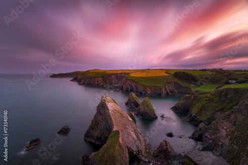 Fotografia Sunset over South Ireland