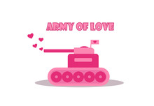 Cartoon Pink Tank From Army Of...