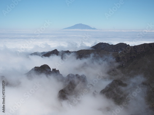 sea clouds from Kilimanjaro, Tanzania, Africa