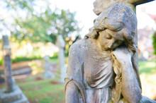 Cemetery Still-life - Sad Woman