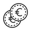 Euro cent vector icon