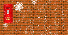 Christmas Paost Box Background