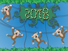 2018 Happy New Monkey Style