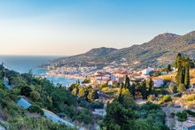 View On Samos Island, Greece