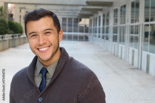 Fotografía  Cute businessman smiling with copy space