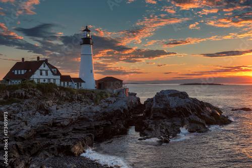 Zdjęcie XXL Portland Kierownicza latarnia morska w przylądku Elizabeth, Maine, usa.