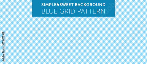 Blue chequered pattern Simple & Sweet Background vol.9 - fototapety na wymiar