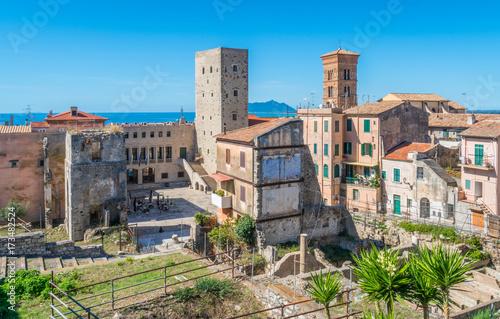 Scenic sight in Terracina, province of Latina, Lazio, central Italy Canvas-taulu