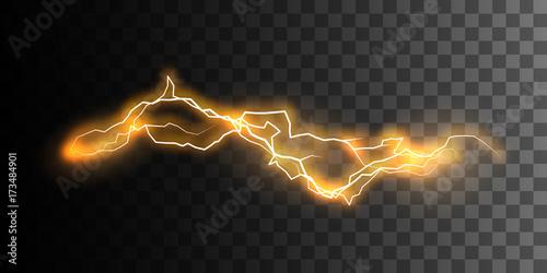 Visual electricity effect. Fototapeta