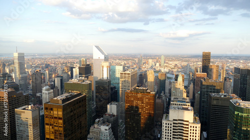 New York panorama from a high skyscraper Tablou Canvas