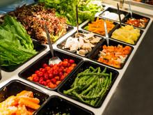 Salad Bar With Various Vegetab...