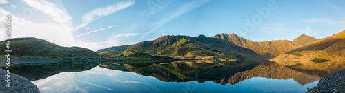 Montage in der Fensternische Himmelblau Llyn Llydaw Panoramic
