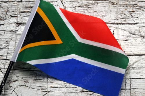 Foto op Plexiglas Zuid Afrika Vlag van Suid-Afrika Bandiera Drapeau de l'Afrique du Sud del Sudafrica Flag of South Africa Flagge Südafrikas Brics 南非國旗 Флаг Южно-Африканской Республики दक्षिण अफ्रीका का ध्वज bandera