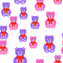 seamless pattern with bears. Baby Wallpapers
