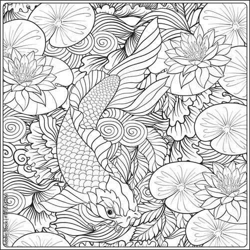 kolorowanka-japonskie-kwiaty