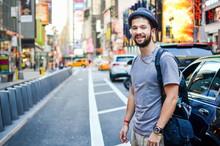 Urban Tourist At Times Square New York, USA