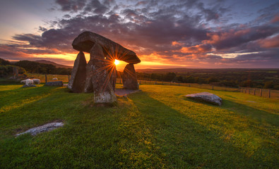 Sunset over the old Dolmen