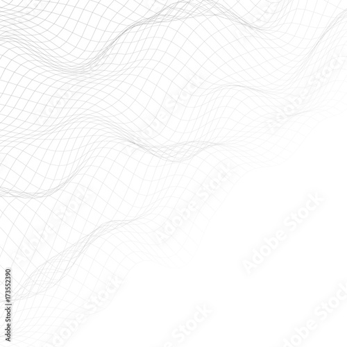 Fototapeta  Abstract background of distorted lines and shapes