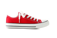 Red Sneaker Isolated On A Whit...