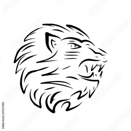 Fototapety, obrazy: lion logo