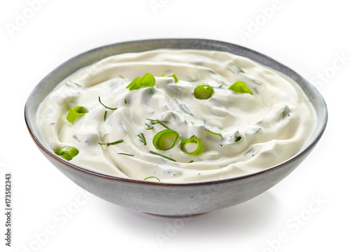 Bowl of sour cream sauce