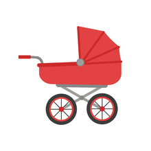Baby Stroller Illustration. Ve...