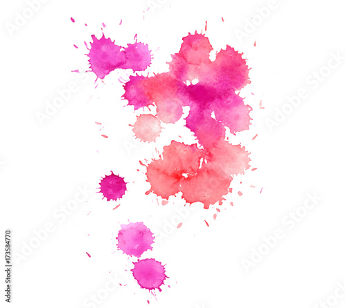 Foto op Canvas Bloemen vrouw Colorful abstract watercolor texture stain with splashes and spatters. Modern creative watercolor background for trendy design.