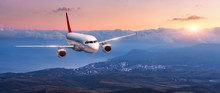 Passenger Airplane. Landscape ...